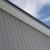 Steel Soffit in Brite White