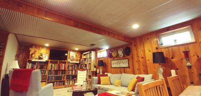 DIY Installation of Corrugated Panels on Ceiling