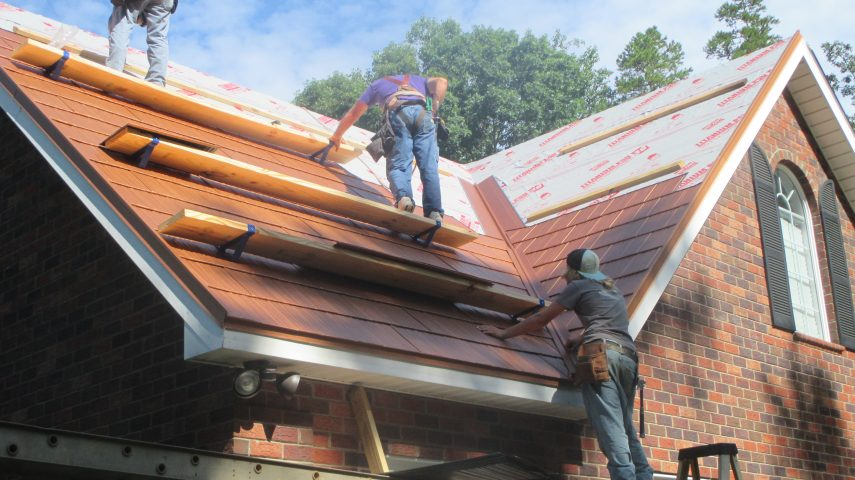 Metal Shingles Staggered