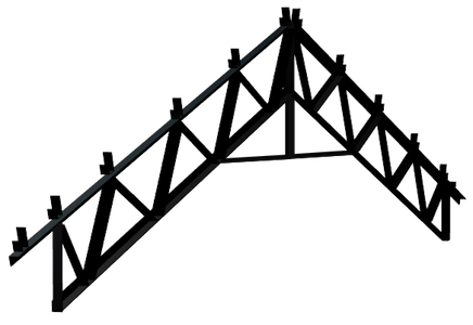 Steel Trusses Product Ftruss P001 Component Side Angle Gable
