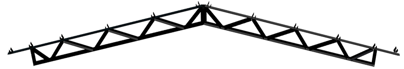 Steel Trusses Product Ftruss P003 Component Front Angle Gable