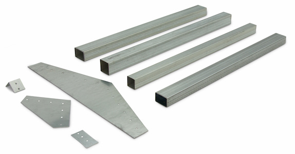 Steel Tubing Product Ftube P001 Group Side Angle Galvanized