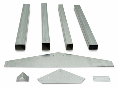 Steel Tubing Product Ftube P003 Group Front Angle Galvanized